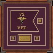 "Veterinary Corps 12"" x 9"" Guidon Design 129-D2-M1"
