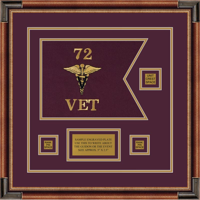 "Veterinary Corps 12"" x 9"" Guidon Design 129-D2-M1"