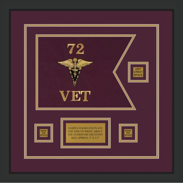 "Veterinary Corps 12"" x 9"" Guidon Design 129-D2-M2"