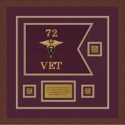 "Veterinary Corps 12"" x 9"" Guidon Design 129-D2-M3"