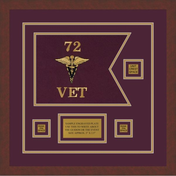 "Veterinary Corps 12"" x 9"" Guidon Design 129-D2-M3"