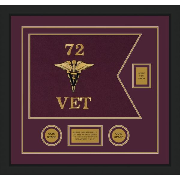 "Veterinary Corps 20"" x 15"" Guidon Design 2015-D2-M5"