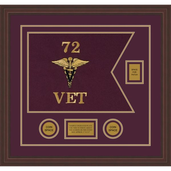 "Veterinary Corps 20"" x 15"" Guidon Design 2015-D2-M6"