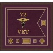 "Veterinary Corps 28"" x 20"" Guidon Design 2820-D2-M6"