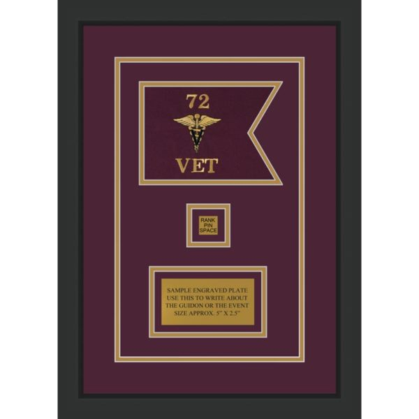 "Veterinary Corps 7"" x 5"" Guidon Design 75-D2-M2"