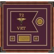 "Veterinary Corps 12"" x 9"" Guidon Design 129-D3-M1"
