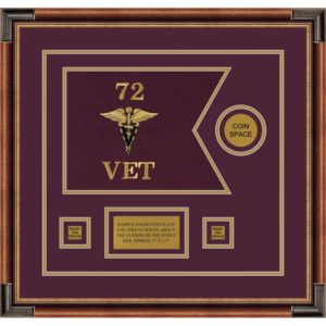 "Veterinary Corps 12"" x 9"" Guidon Design 129-D3-M1"