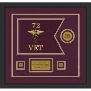 "Veterinary Corps 12"" x 9"" Guidon Design 129-D3-M2"