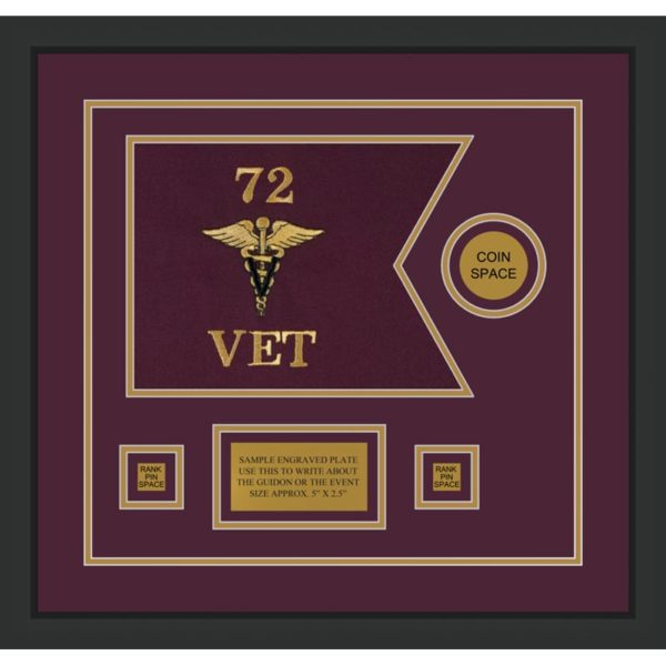 "Veterinary Corps 12"" x 9"" Guidon Design 129-D3-M2"