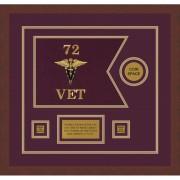 "Veterinary Corps 12"" x 9"" Guidon Design 129-D3-M3"