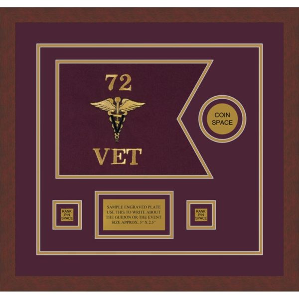 "Veterinary Corps 12"" x 9"" Guidon Design 129-D3-M3"