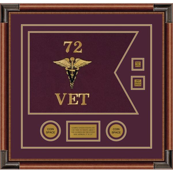 "Veterinary Corps 20"" x 15"" Guidon Design 2015-D3-M4"