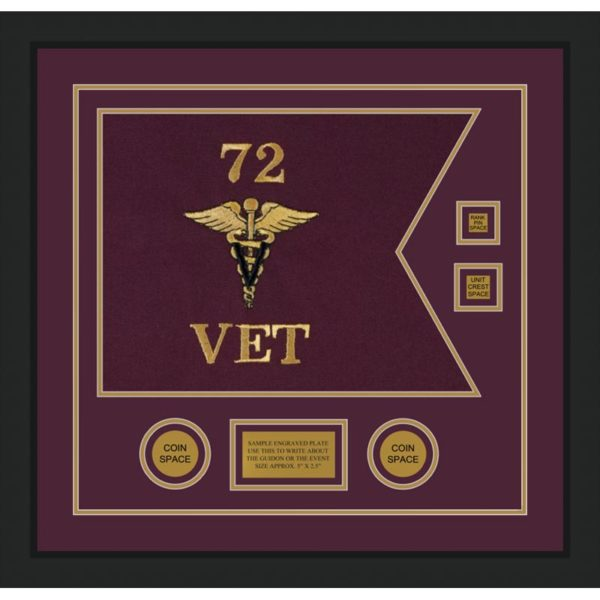"Veterinary Corps 20"" x 15"" Guidon Design 2015-D3-M5"
