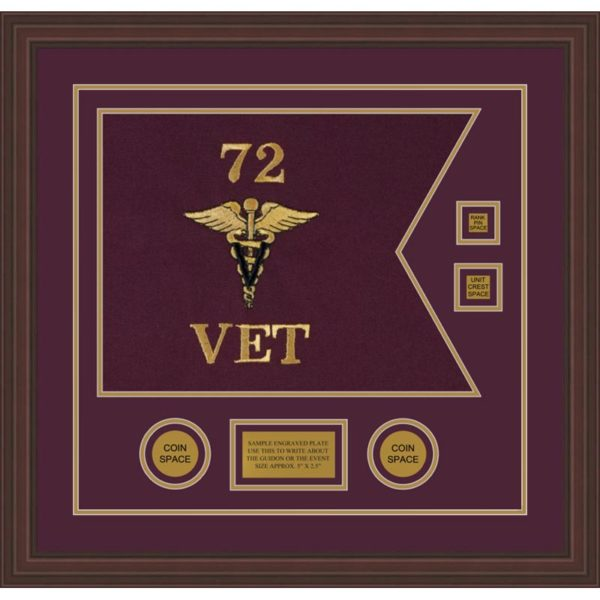 "Veterinary Corps 20"" x 15"" Guidon Design 2015-D3-M6"