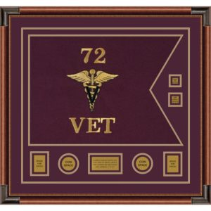 "Veterinary Corps 28"" x 20"" Guidon Design 2820-D3-M4"