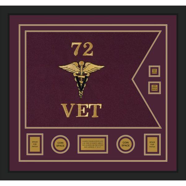 "Veterinary Corps 28"" x 20"" Guidon Design 2820-D3-M5"