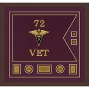 "Veterinary Corps 28"" x 20"" Guidon Design 2820-D3-M6"