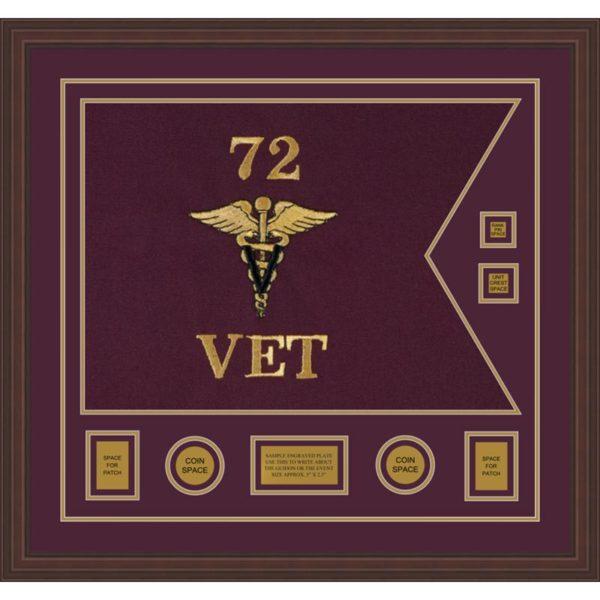 "Veterinary Corps 28"" x 20"" Guidon Design 2820-D3-M6"