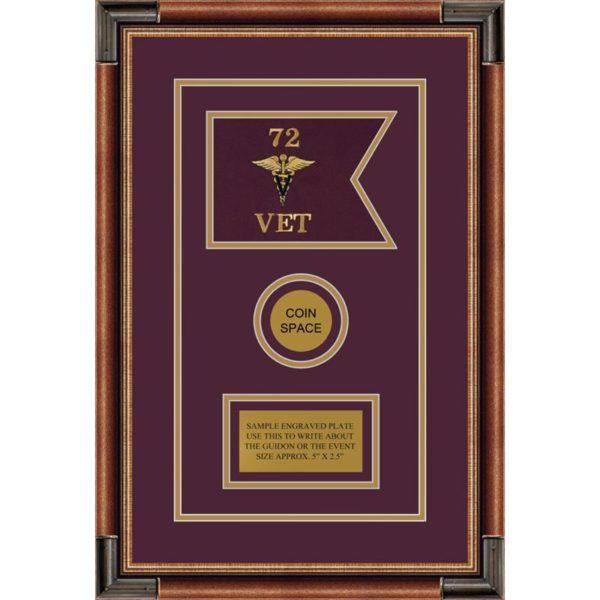 "Veterinary Corps 7"" x 5"" Guidon Design 75-D3-M1"