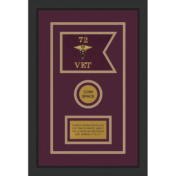 "Veterinary Corps 7"" x 5"" Guidon Design 75-D3-M2"