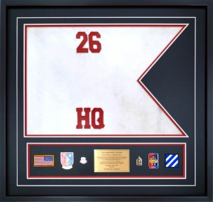 Custom Guidon Framing – 26th Brigade Support Battalion, 2nd Brigade Combat Team Flown Guidon