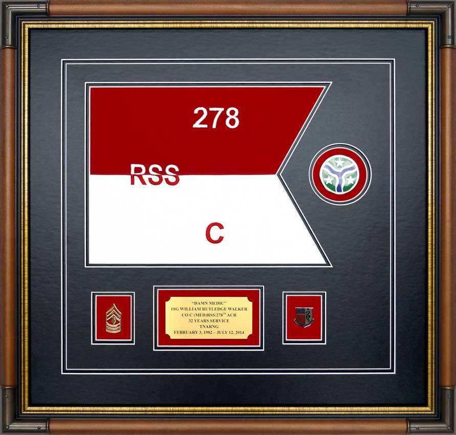 Custom Guidon Framing Framed Guidons