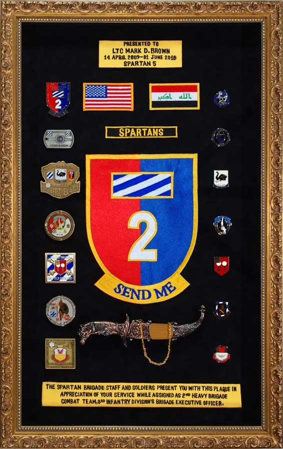 Custom Military Shadow Box Framing Framed Guidons