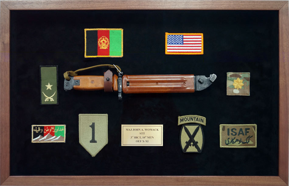 3rd Brigade Combat Team, 10th Mountain Division  Custom Designed And Built  Military Shadow Box