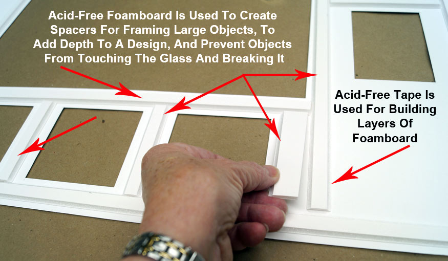 Acid Free Foamboard Is Used To Create Spacers For Framing Large