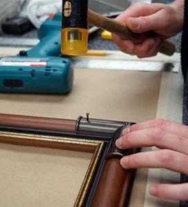 Assembling Custom Frames With Metal Corner Caps
