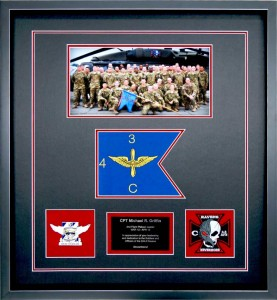 Aviation Guidon Custom Framed With Photo
