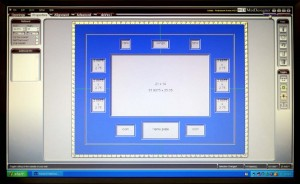 Custom Frames Begin With A Computer Design For The Mat Layout
