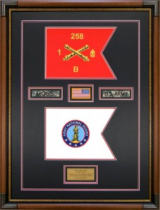 National Guard Guidons Custom Framed With Memorabilia