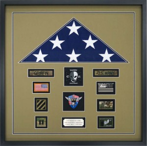 Flag Display Case Commemorating Deployment