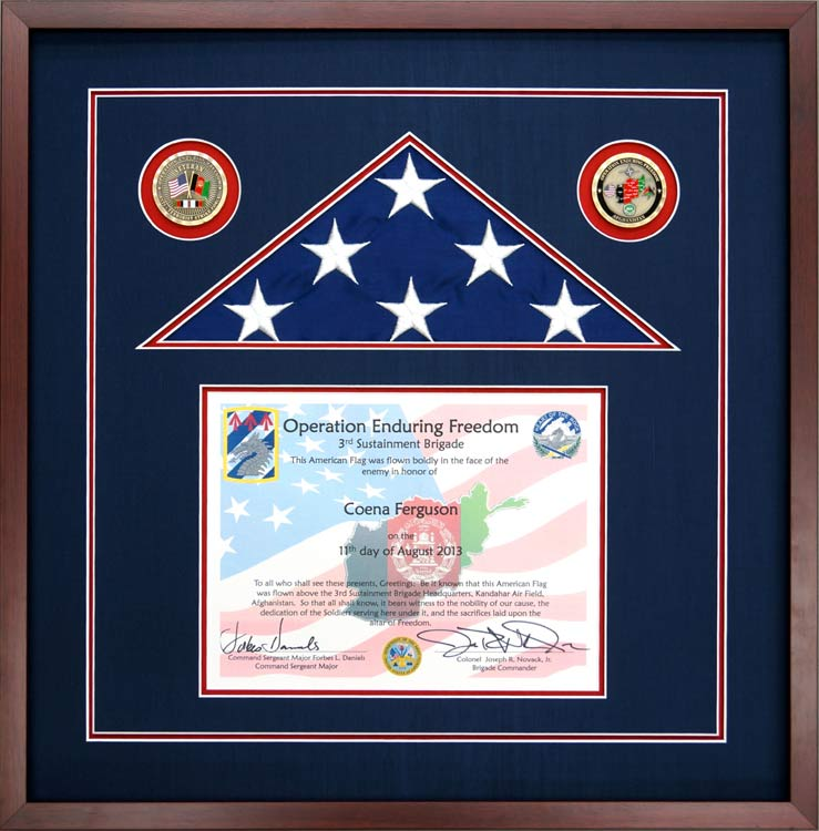 Flag Display Case For Operation Enduring Freedom Flag