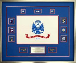 Custom Flag Display Case With US Army Flag