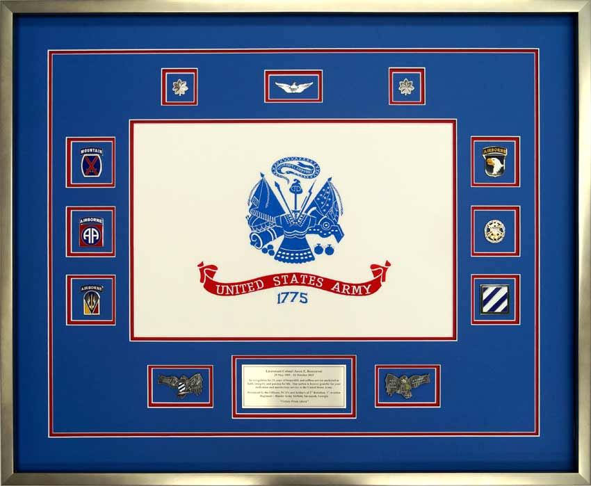 Custom Flag Display Case For Faming Military Memorabilia