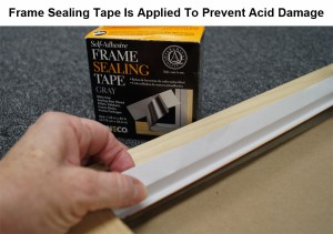 Frame Sealing Tape Is Applied To Prevent Acid Damage