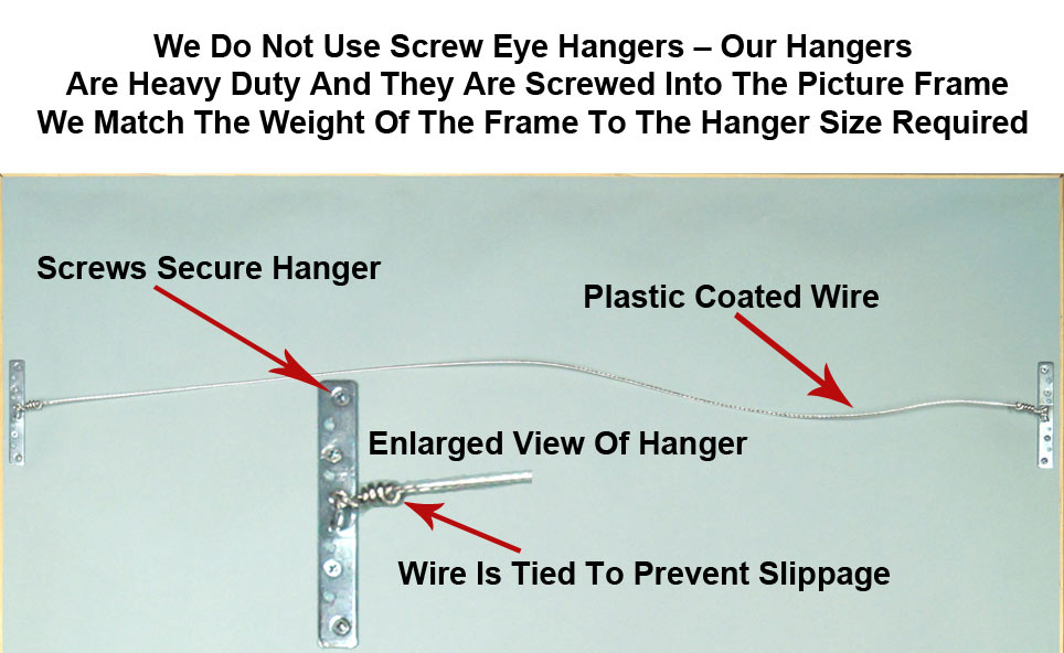 Heavy Duty Wire Hangers For Picture Frames - Framed Guidons