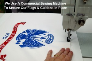 Securing A Flag By Stitching It To An Acid-Free Foamboard