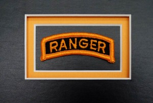 Custom Guidon Framing – Ranger Tab Triple Mounted