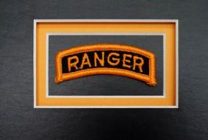 Custom Guidon Framing – Ranger Tab Triple Mounted