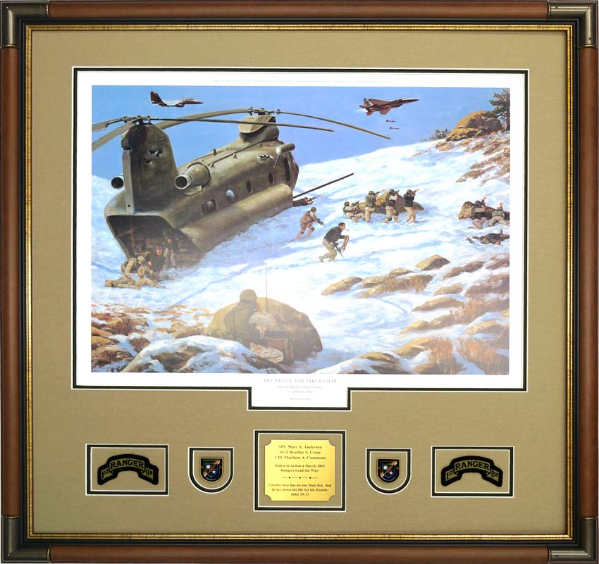 Gallery – Custom Military Shadow Box Examples - Framed Guidons