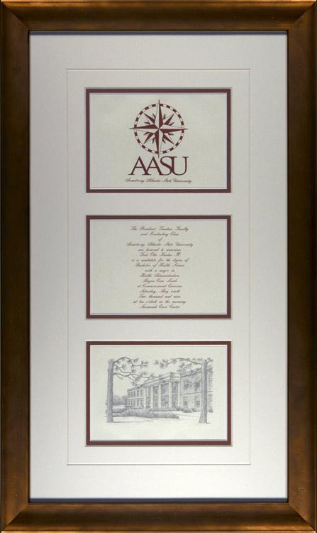 armstrong atlantic state university graduation invitation framed