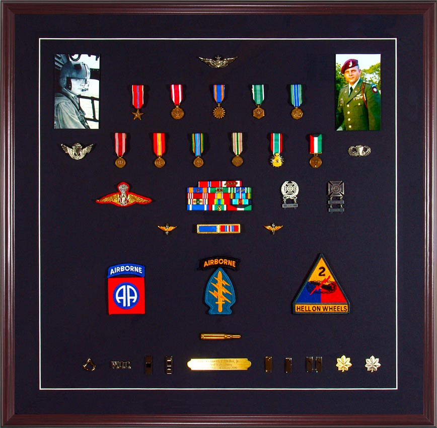 Custom Framed Military Medals And Ribbons Guidons