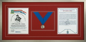 Military Medals - Custom Framed Knowlton Award With Medallion