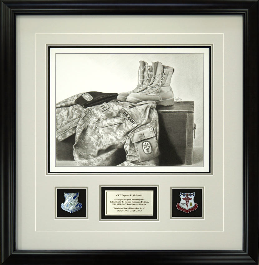 Custom Framed Military Prints And Photos - Framed Guidons