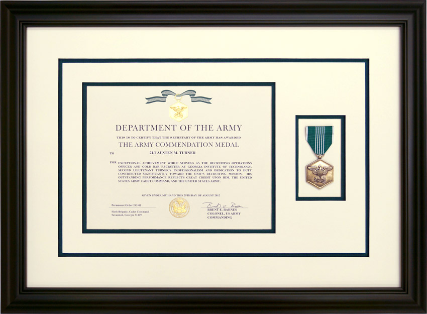 Custom Framed Military Medals and Ribbons - Framed Guidons