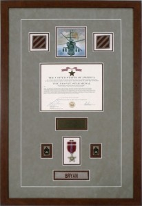 Custom Framed Military Medals - Bronze Star Medal With Patches, Ribbon, And Nameplate