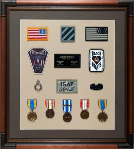 Military Medal Display 4th Battalion 3rd Aviation Regiment